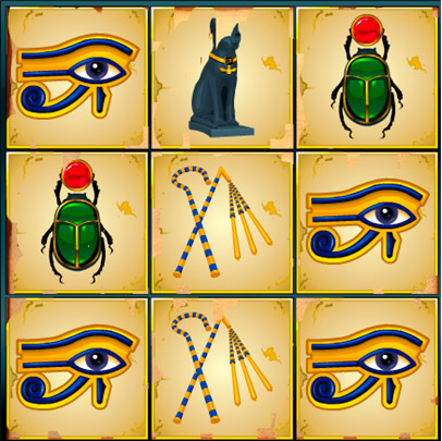 Jewels of Anubis Losing Scratchcard