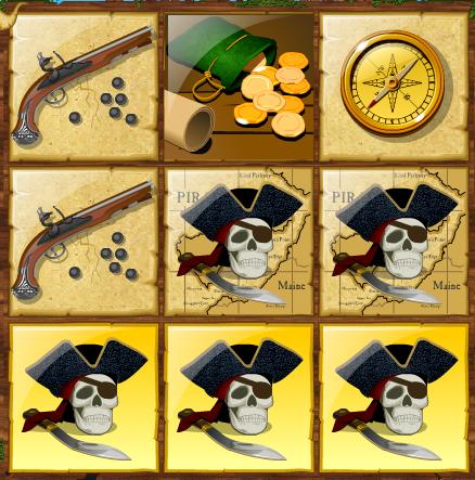 Pirate Instant Winning Scratchcard 1
