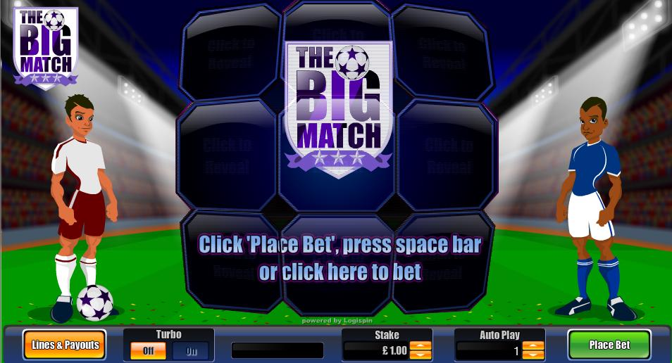 The Big Match Entry Screen