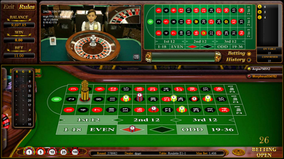 Live Dealer Roulette Entry Screen - 338 Suite