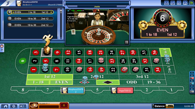 Live Dealer Roulette Entry Screen - Royal Suite