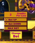 Temple of Isis Change Bet Button