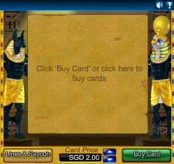 Mini Jewels of Anubis Entry Screen