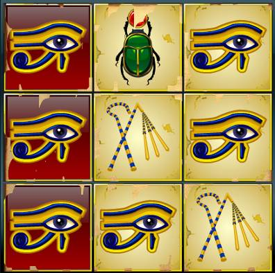 Mini Jewels Of Anubis Win Example 2