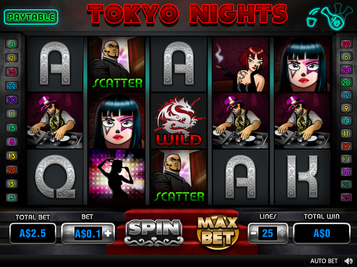 Tokyo Nights Entry Screen