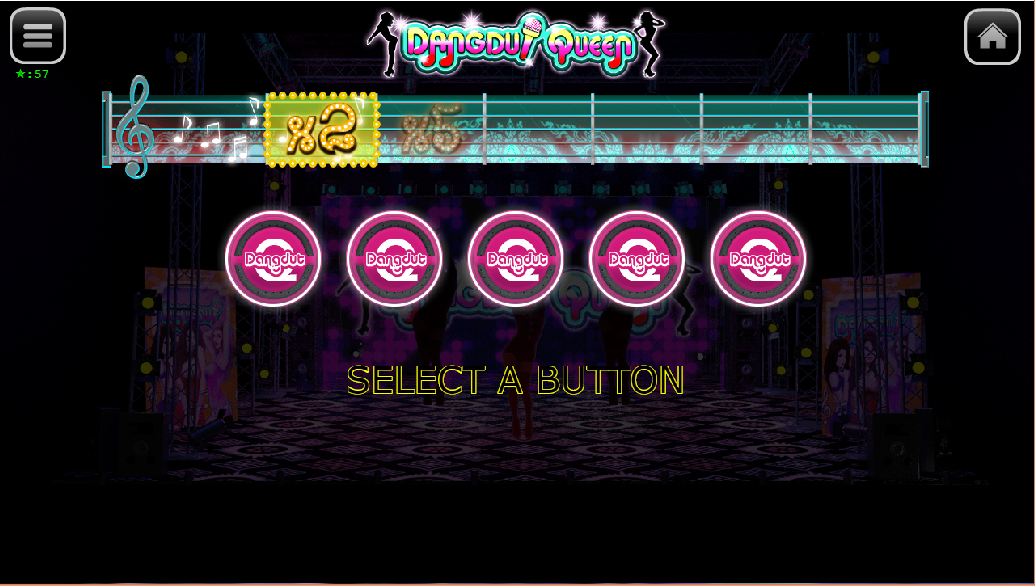 Dangdut Queen bonus game 5 buttons remaining scene.jpg