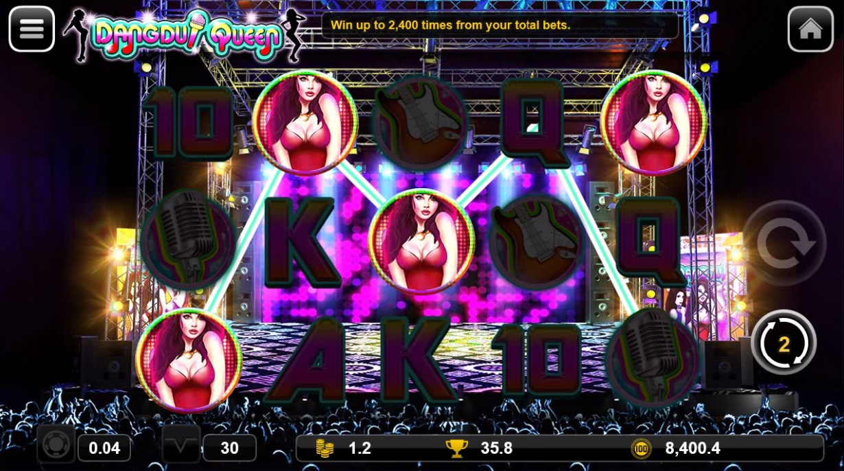 Dangdut Queen bonus game triggered scene .jpg