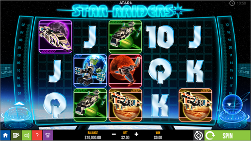 Star Raiders Slot game play scene.png