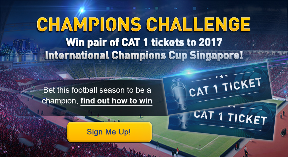 Win pair of CAT 1 tickets to 2017 International Champions Cup Singapore!