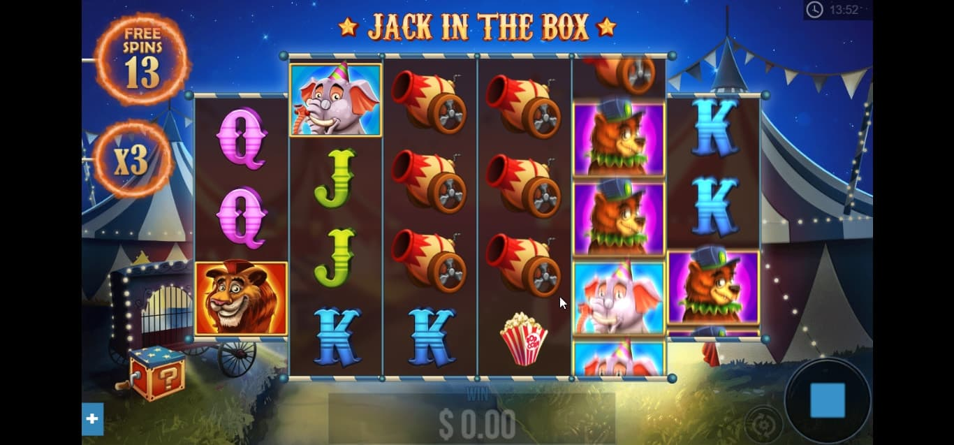 Jack In The Box Bonus Game Free Spins