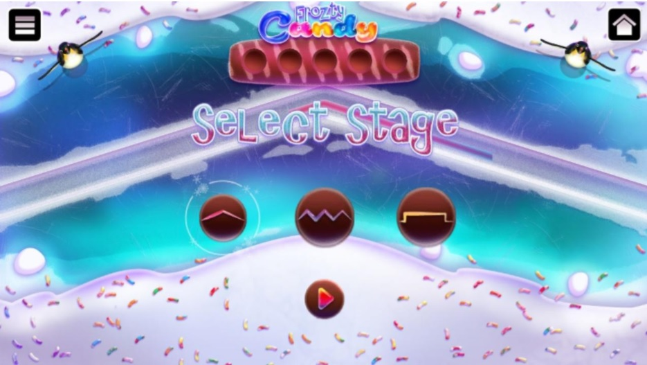 Frozty Candy game upon opening the game