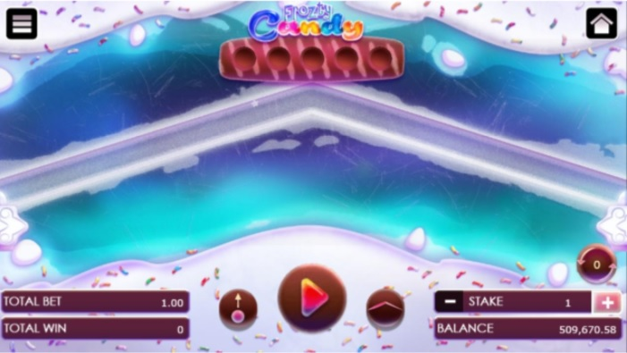 Frozty candy game upon selecting a stage