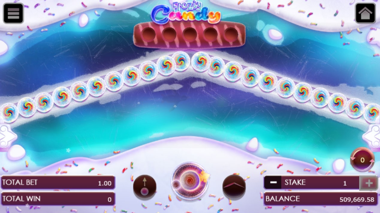 Frozty candy game after clicking 'Play symbol'