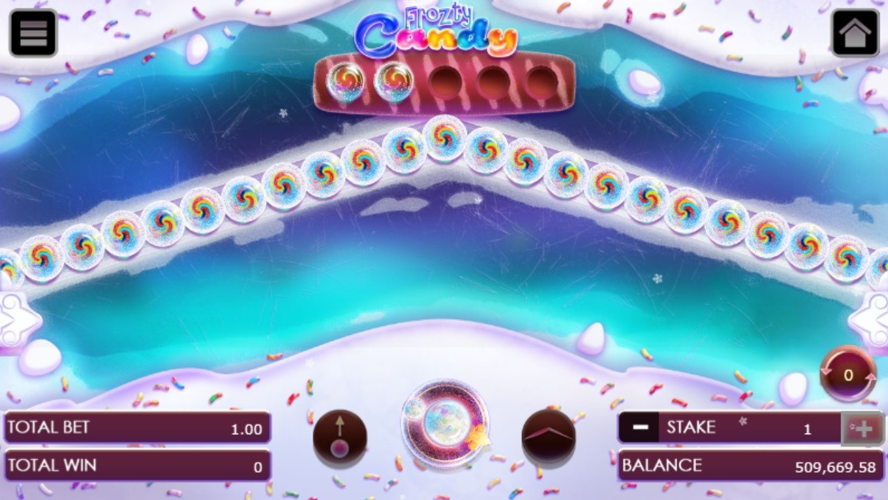 Frozty candy game after shooting with two revealed candies