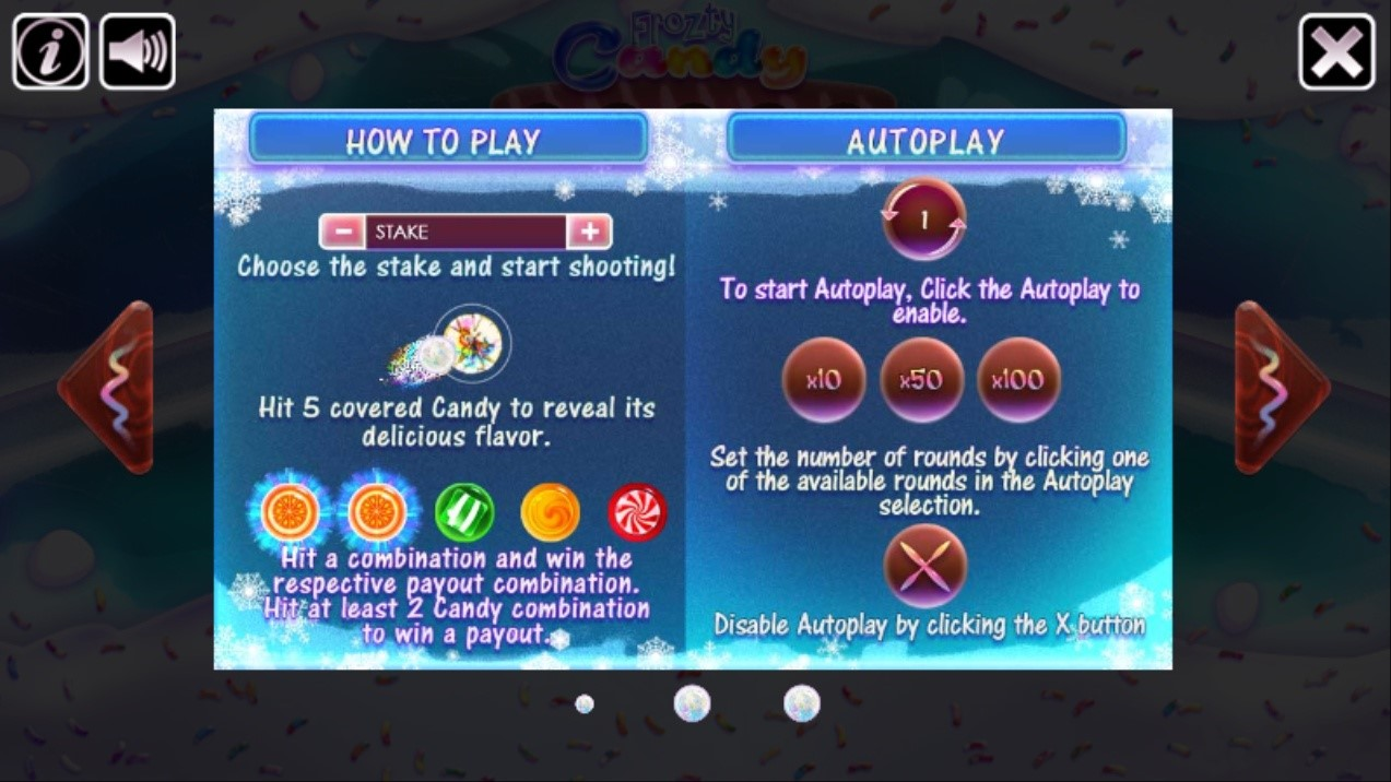Inside the Information button of the game menu
