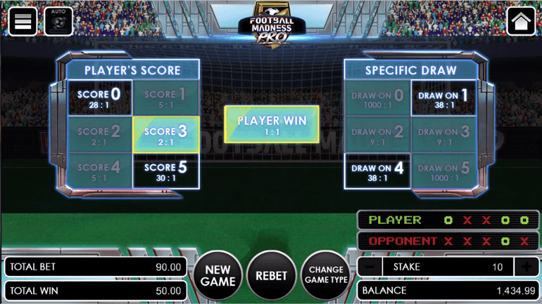 Football Madness Pro Shootout end of round 5
