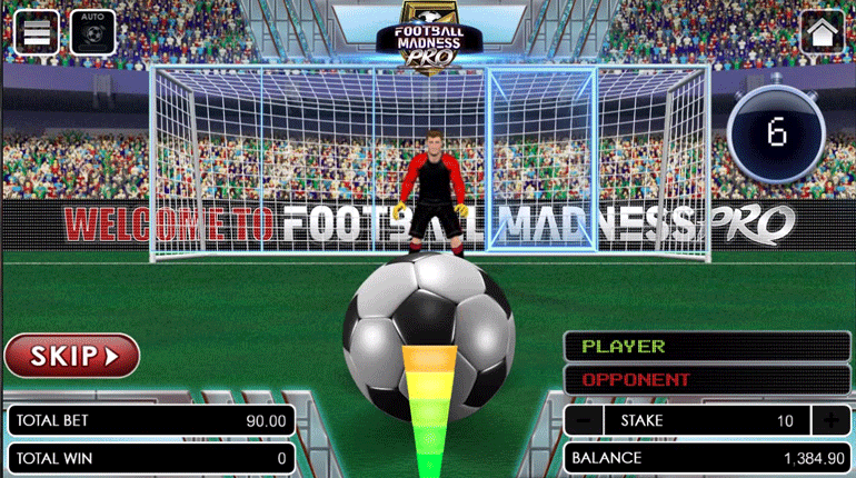 Football Madness Pro Shootout shooting phase