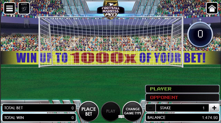 Football Madness Pro Shootout main game