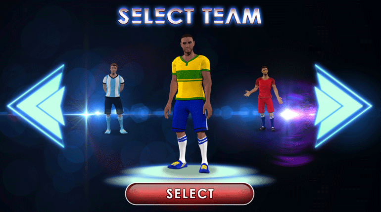 Football Madness Pro selecting team
