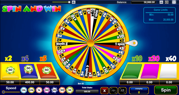 Spin and Win - how to play on desktop