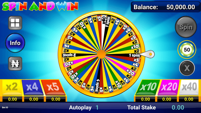 Spin and Win - how to play on mobile