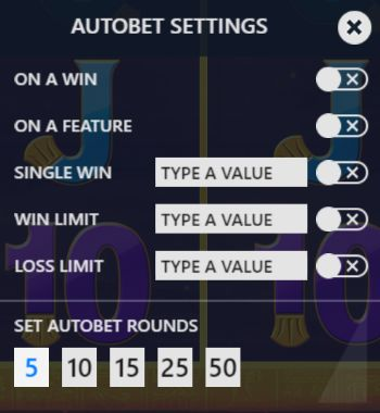 Luxor autobet settings