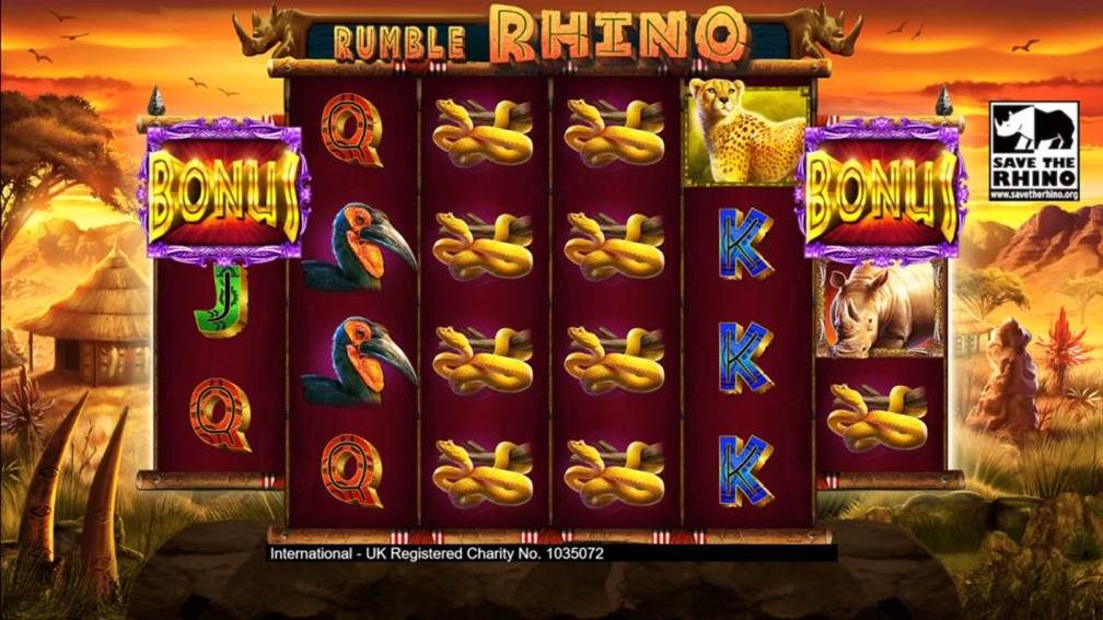 Rumble Rhino bonus game unlock